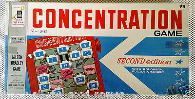 MILTON BRADLEY John Sands CONCENTRATION 2nd Ed. BOARD GAME 1962 for SPARE PARTS