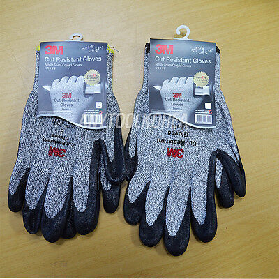 1 Pair 3M Nitrile Foam Coated Cut Resistant Safety Gloves Level 5
