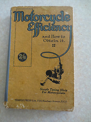 Vintage 1920s motorcycle tuning book for AJS Velocette New Imperial BSA Douglas