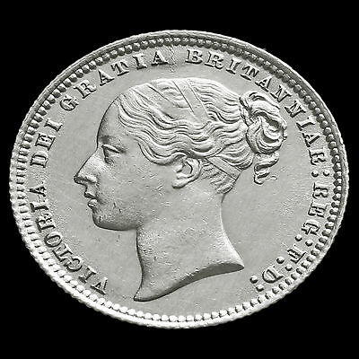 1872 Queen Victoria Young Head Silver Shilling