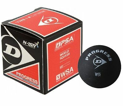 Dunlop Pro Squash Balls - Progress Red - WSF & WSA & PSA Official Ball