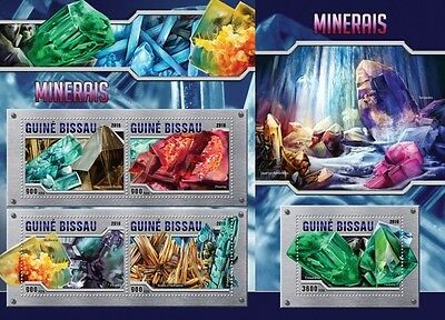 Z08 Imperforated GB16301ab GUINEA-BISSAU 2016 Minerals MNH Set