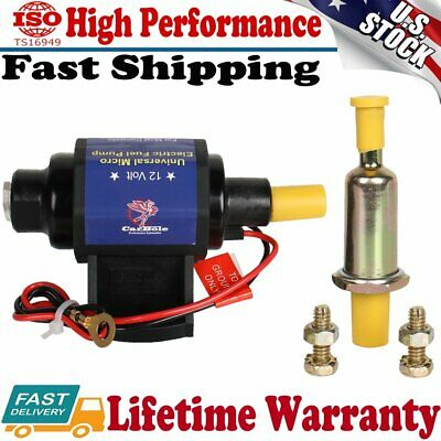 12 V Universal Low Flow Micro Electronic Fuel Pump 5//16 inch 35 GPH 4-7 PSI New