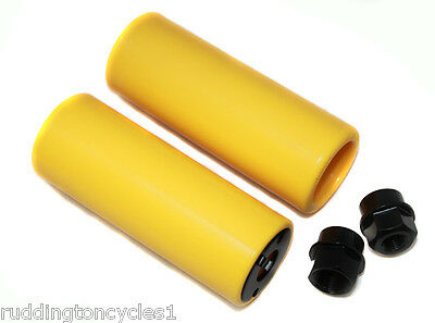 Yellow Nylon Coyote BMX Stunt Pegs Cycle / Bike Trick Nuts Grind Pegs 10 /14mm