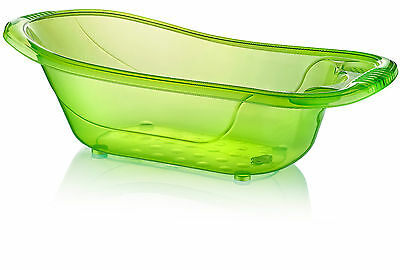 Large 50 Litre Aqua LIME GREEN Clear Transparent Baby Bath Tub