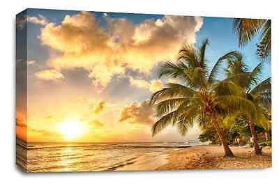 Large Sunset Beach Multi Canvas Wall Art Pictures Canvas Prints 20 x 30 Palmtree