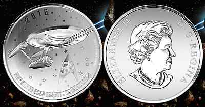 STAR TREK ENTERPRISE $20 COIN Pure Silver 2016