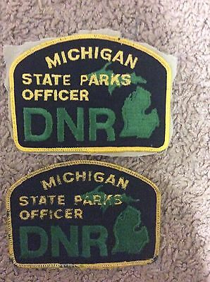 DNR Michigan State Parks Officer Arm Patches