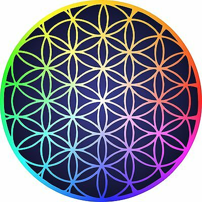 FLOWER OF LIFE - Vinyl Sticker Decal - full color sacred geometry seed of  life