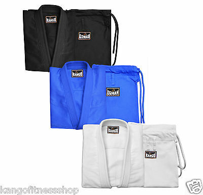 Kango Fitness Brazilian Jiu Jitsu Uniform/Gi Premium Blank with Free White Belt