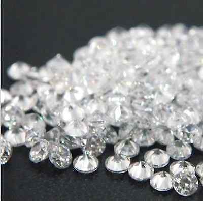 Cubic Zirconia White Round Faceted AA+ Wholesale Loose Stones (0.8mm-20mm)