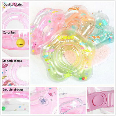 Aerated Baby Infant Lifebuoy Swimming Tube Float Collar 2 Safety Neck Ring Kids