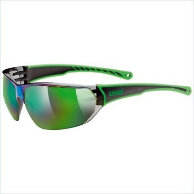 Uvex Cycling Sunglasses Bike Trainning Sun Protection Green Black Sports Outdoor