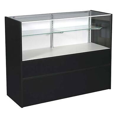 "New or Retails Economy Black 70"" Half vision showcase with light"