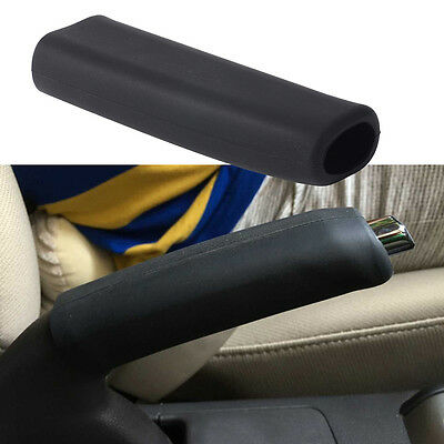 Black Car Anti Slip Silicone Parking Hand Brake Boot Leather Cover Lever Sleeve