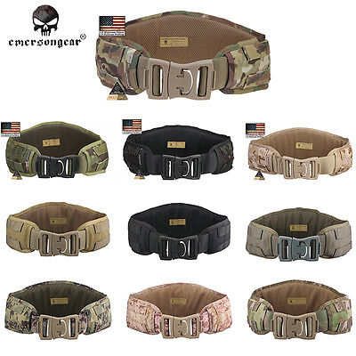 EMERSON Padded Molle Combat Waist Belt Military Tactical Hunting 1000D EM9086