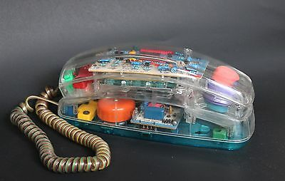 Vtg Bellsouth Transparent Telephone Corded See Through  80's 90's