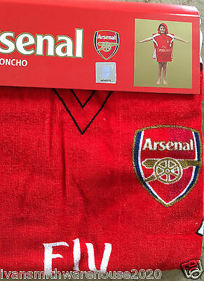 Childrens TowelIing Hooded Poncho Arsenal FC Fully licenced Kids Swimming