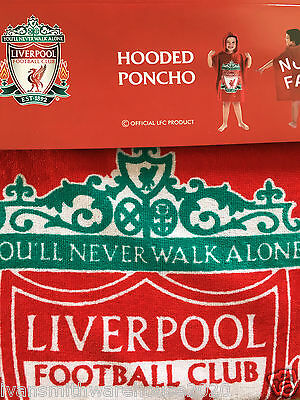 Childrens TowelIing Hooded Poncho Liverpool FC Fully licenced Kids Swimming