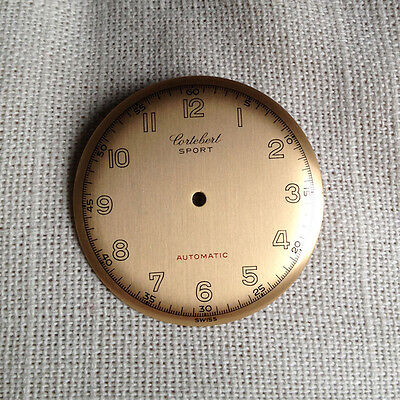 Cortebert  Sport Automatic old vintage dial 30mm gold