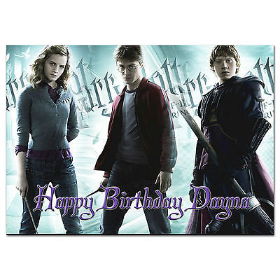 C036 LARGE PERSONALISED Birthday Card Custom Made For Any Name Harry Potter