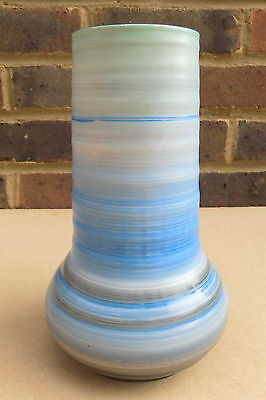 Art Deco SHELLEY Blue Vase - 8 Inches