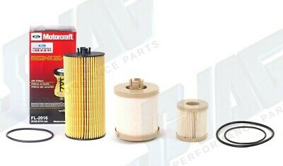 GK Industries Fuel Filter With OEM Ford Motorcraft Oil Filter Fits '03-07 6.0L