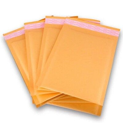 PolycyberUSA  100pcs #4 Kraft Bubble Envelopes Mailers 9.5x14.5 (Inner 9.5x13.5)