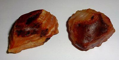 2pc #102 Raw A-Grade Fire Agate from Mexico Healing Crystal Gemstone Specimen