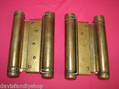 Saloon 2 Way Double Action Spring Loaded Door Hinge Set Hinges 6 3/4 inches
