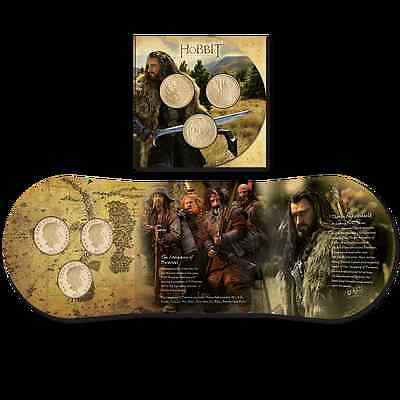 NEW ZEALAND 2013 THE HOBBIT, BRILLIANT UNCIRCULATED COIN SET 3x $1 DOLLAR COINS