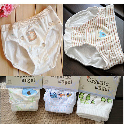 Organic Cotton Boys Children kid Soft boxer Underwear Briefs Panties Korean 5PCS