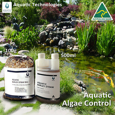 Barley Extract 500ml+Barley Straw Bale 100g - To supress algae growth in ponds