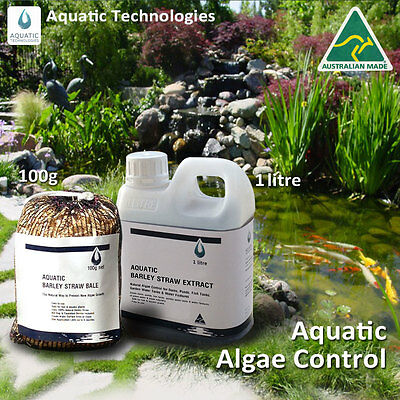 Barley Extract 1lt+Barley Straw Bale 100g - To suppress algae growth in ponds