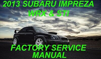 2013 subaru impreza wrx and sti factory service repair manual rh picclick com Subaru WRX Interior 2013 subaru wrx service manual