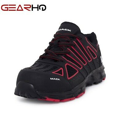 New MACK Boots Vision Work Safety Shoes with Composite Toe~ Red/Black