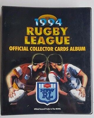 1994 Rugby League Collector Cards Dynamic Marketing Complete Set Folder Inserts