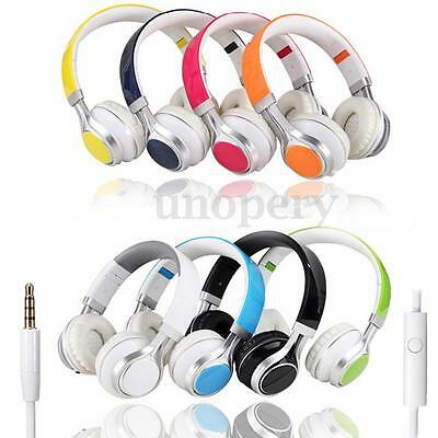 3.5mm Cuffie Auricolari Headset Stereo Microfono Per PC Laptop Tablet Cellulare