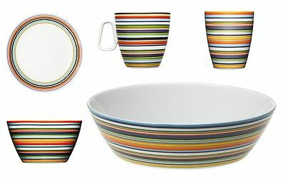 Iittala Origo Series Multi-Coloured Striped Mugs, 0.25 or 0.4L