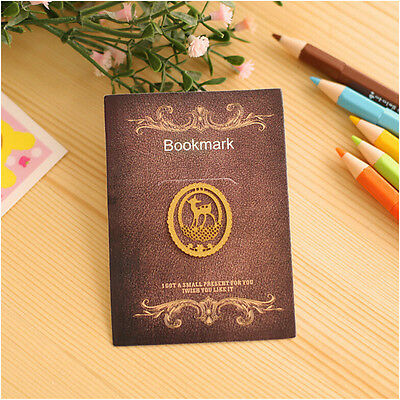 Lovely 1pc Cute Animal Gold Plated Metal Hollow Deer Bookmark Book Paper Reading