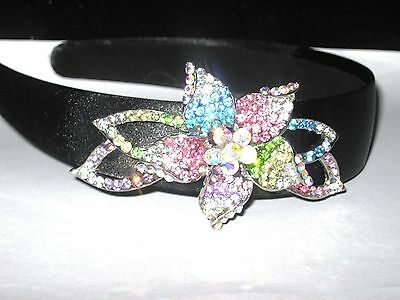 ROSE Exquisite Multi-Color Crystals Headband Elegant Hair Jewelry