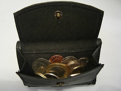 Business Card SpaceRFID Soft Leather Trifold  Wallet With Coin Pocket Back Zip