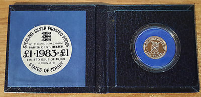 1983 Jersey Sterling Silver £1 Frosted Proof (CW3)