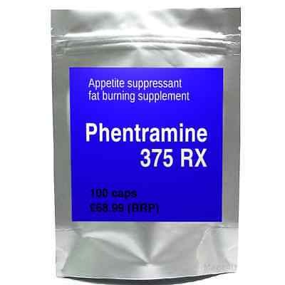 100 PHENTRAMINE 375 RX strong diet pills SLIMMING/WEIGHT LOSS fat burner, 37.5mg