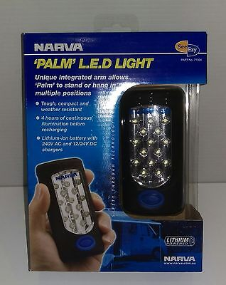 NARVA Palm L.E.D Utility Light Torch Rechargeable Lithium-ion battery 71304 NEW