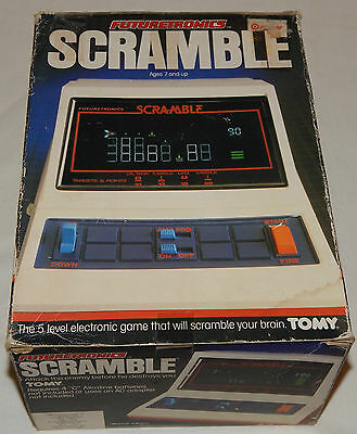 **vintage 1982 Scramble Lsi Tabletop/handheld Vfd Tomy Game In Box/boxed**