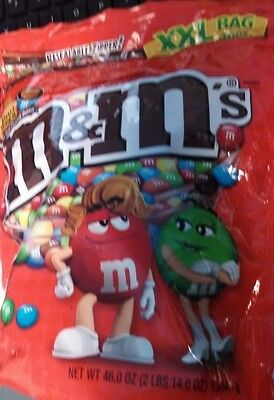 M&Ms PEANUT BUTTER 46 OZ XXL BAG Chocolate Candy