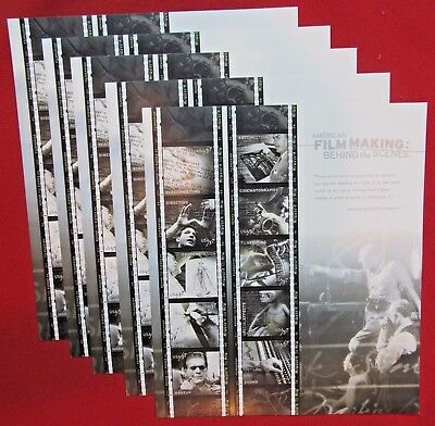 Five Sheets of Ten AMERICAN FILM MAKING Behind the Scenes 37 ¢  US Stamps # 3772