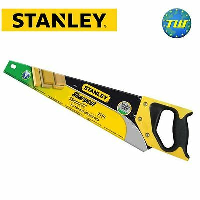 """Stanley 22"""" 550mm 11TPI Sharpcut Fine Cutting Wood Timber Hand Saw 1-20-095"""