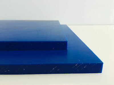 Polyethylene PE500 (HMWPE) Sheet Blue 12mm thick - various sizes